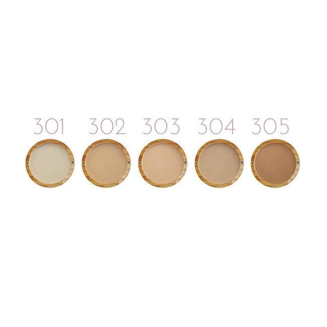 poudre compacte 302 beige orange zao. Black Bedroom Furniture Sets. Home Design Ideas